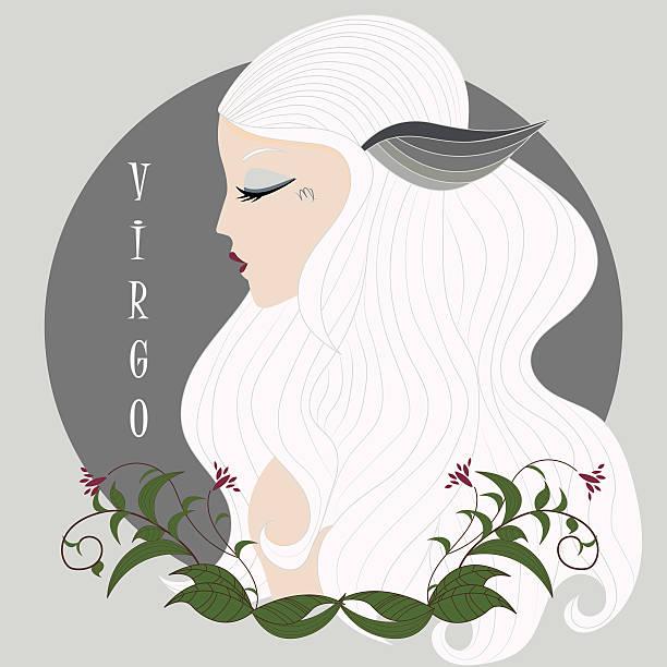 zodiac mädchen jungfrau - jungfrau stock-grafiken, -clipart, -cartoons und -symbole