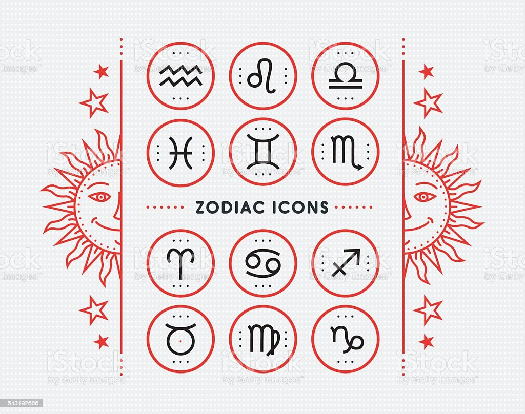 Zodiac icon collection. Vector collection. vector art illustration