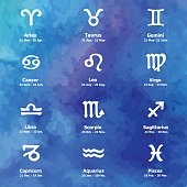 Zodiac icons. Freehand drawing.