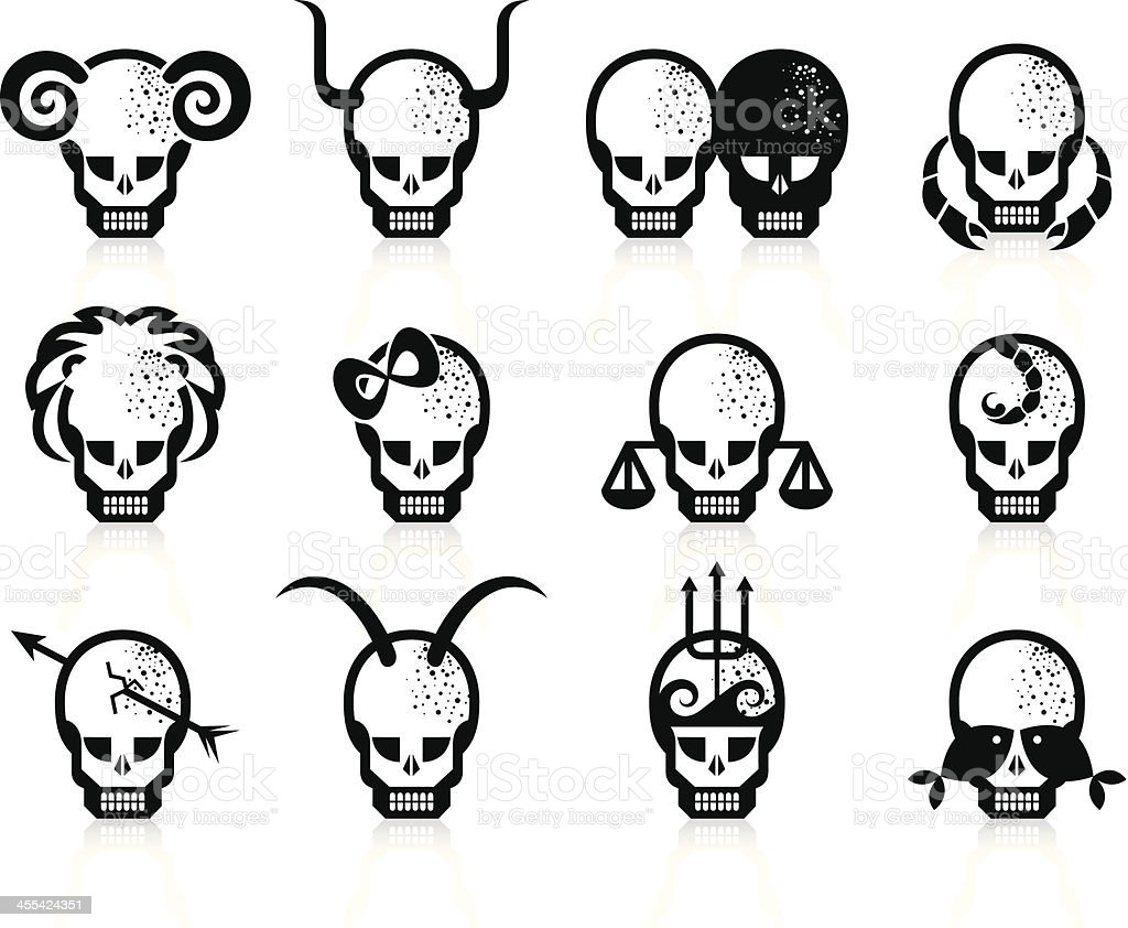 Zodiac set. royalty-free stock vector art