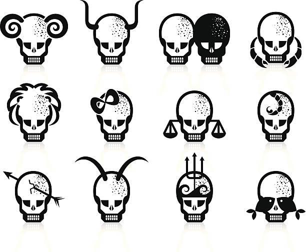 Zestaw Zodiaka. – artystyczna grafika wektorowa