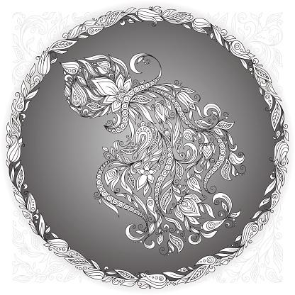 Zodiac sign Aquarius.