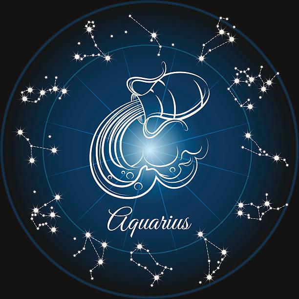 Zodiac sign aquarius vector art illustration