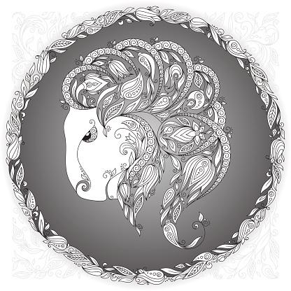 Zodiac sign Capricornus.