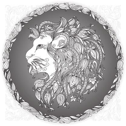 Zodiac sign Leo.