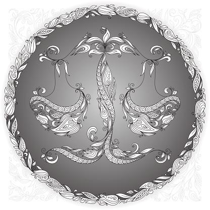 Zodiac sign Libra.