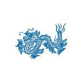Zodiac Sign of Dragon(China paper-cut patterns)