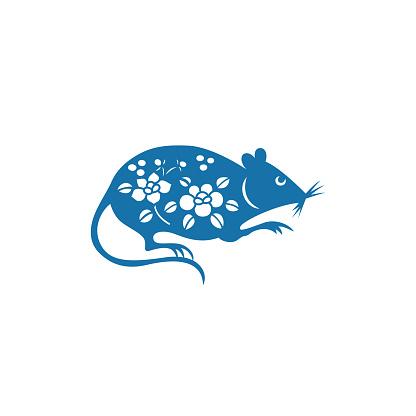 Zodiac Sign of Rat(China paper-cut patterns)
