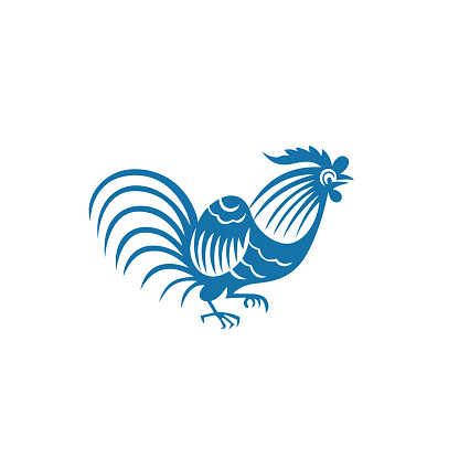 Zodiac Sign of Rooster(China paper-cut patterns)-02