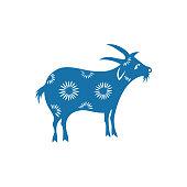 Zodiac Sign of Sheep(China paper-cut patterns)