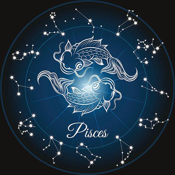 illustrations, cliparts, dessins animés et icônes de signe du zodiaque signe du poisson - pisces zodiac