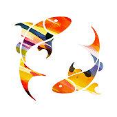 zodiac sign Pisces. vector illustration