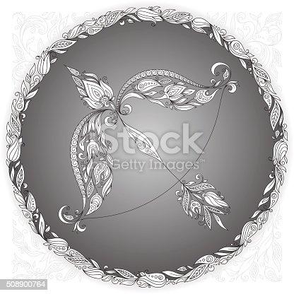 Zodiac sign Sagittarius.