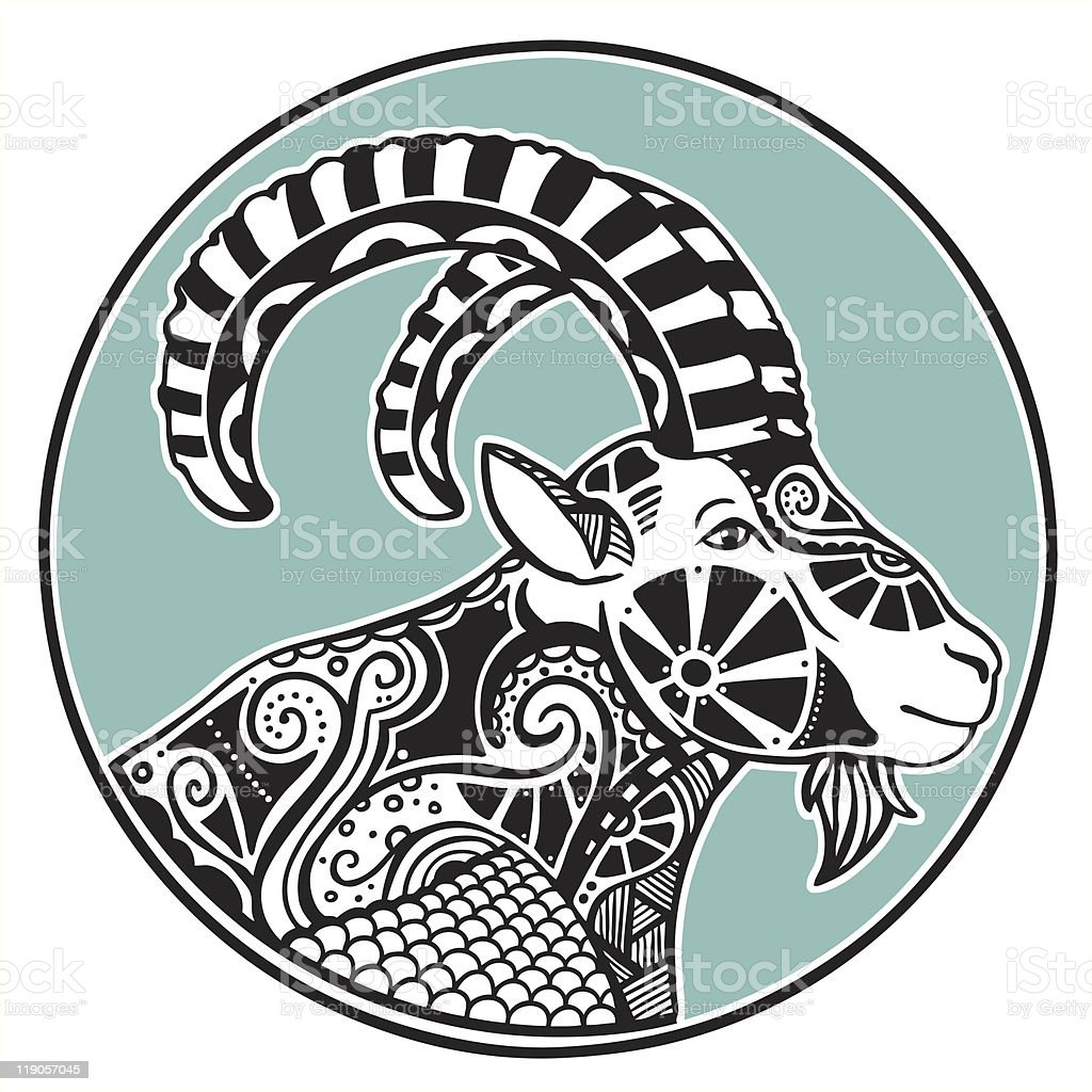 Zodiac signs - Capricorn vector art illustration