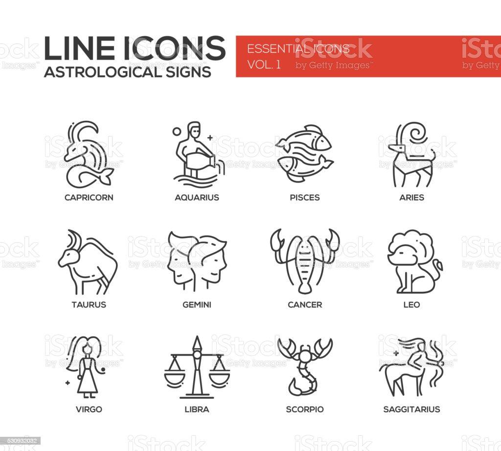 Sternzeichen Symbole Satz Stock Vektor Art und mehr Bilder von ...