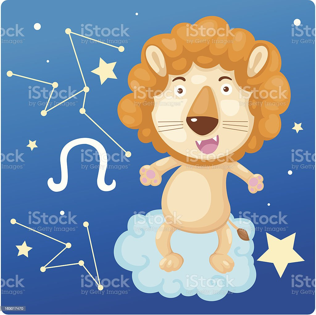 Zodiac signs - Lion Illustration royalty-free stock vector art