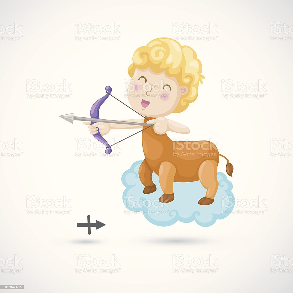 Zodiac signs -Sagittarius Illustration royalty-free zodiac signs sagittarius illustration stock vector art & more images of adult