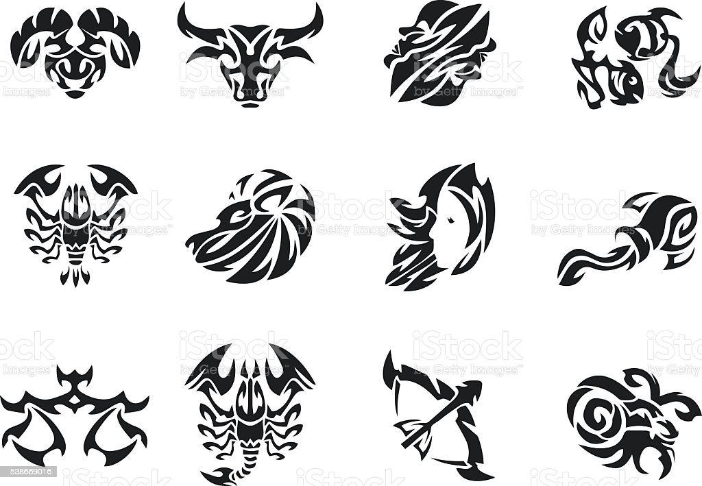 Znaki Zodiaka Zbiory Zestaw Tatuaż Męskie Tatuaż Damskie