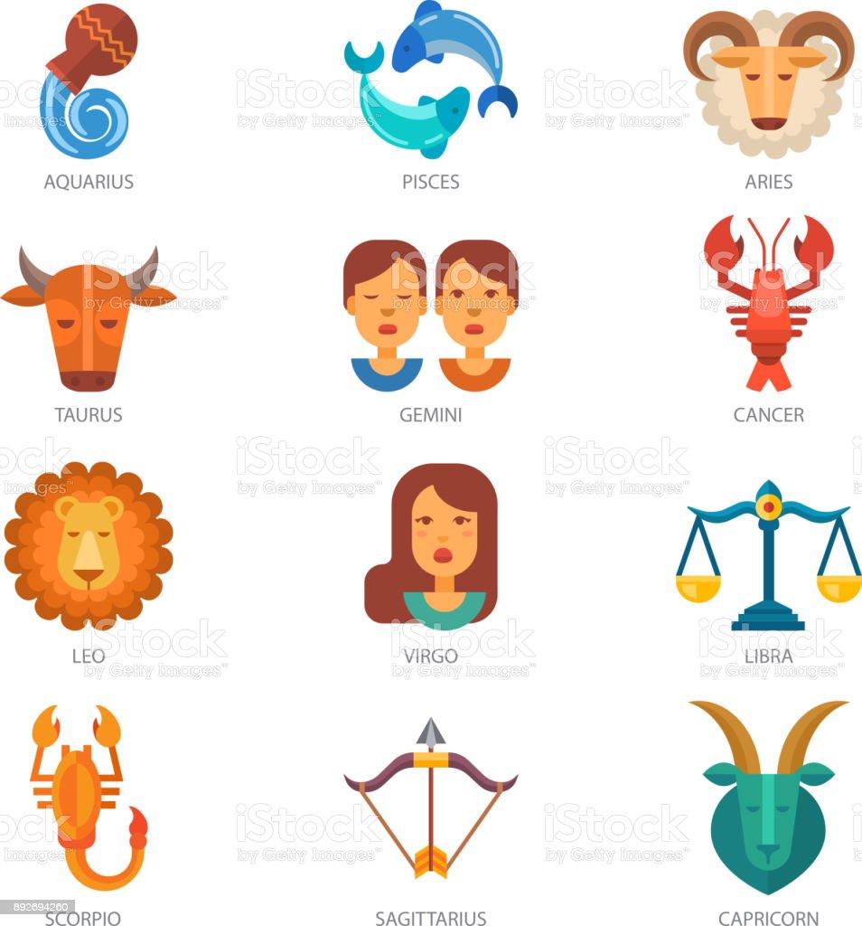 vektorsternzeichen astrologie tierkreiszeichen symbol oder astrologische kalender im horoskop. Black Bedroom Furniture Sets. Home Design Ideas