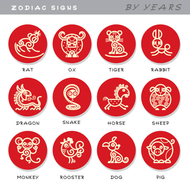 Best Chinese Zodiac Sign Illustrations Royalty Free