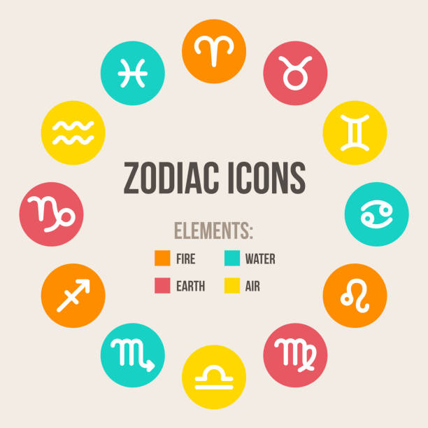 Zodiac signs vector art illustration