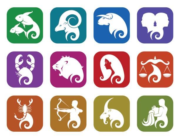 illustrations, cliparts, dessins animés et icônes de signes du zodiaque - pisces zodiac
