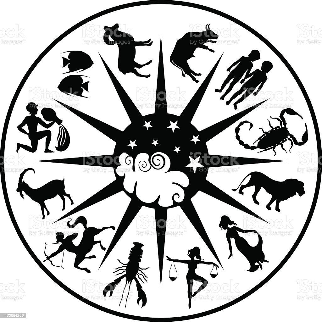Zodiac vector art illustration