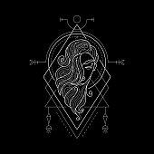 Zodiac Virgo Geometry Style