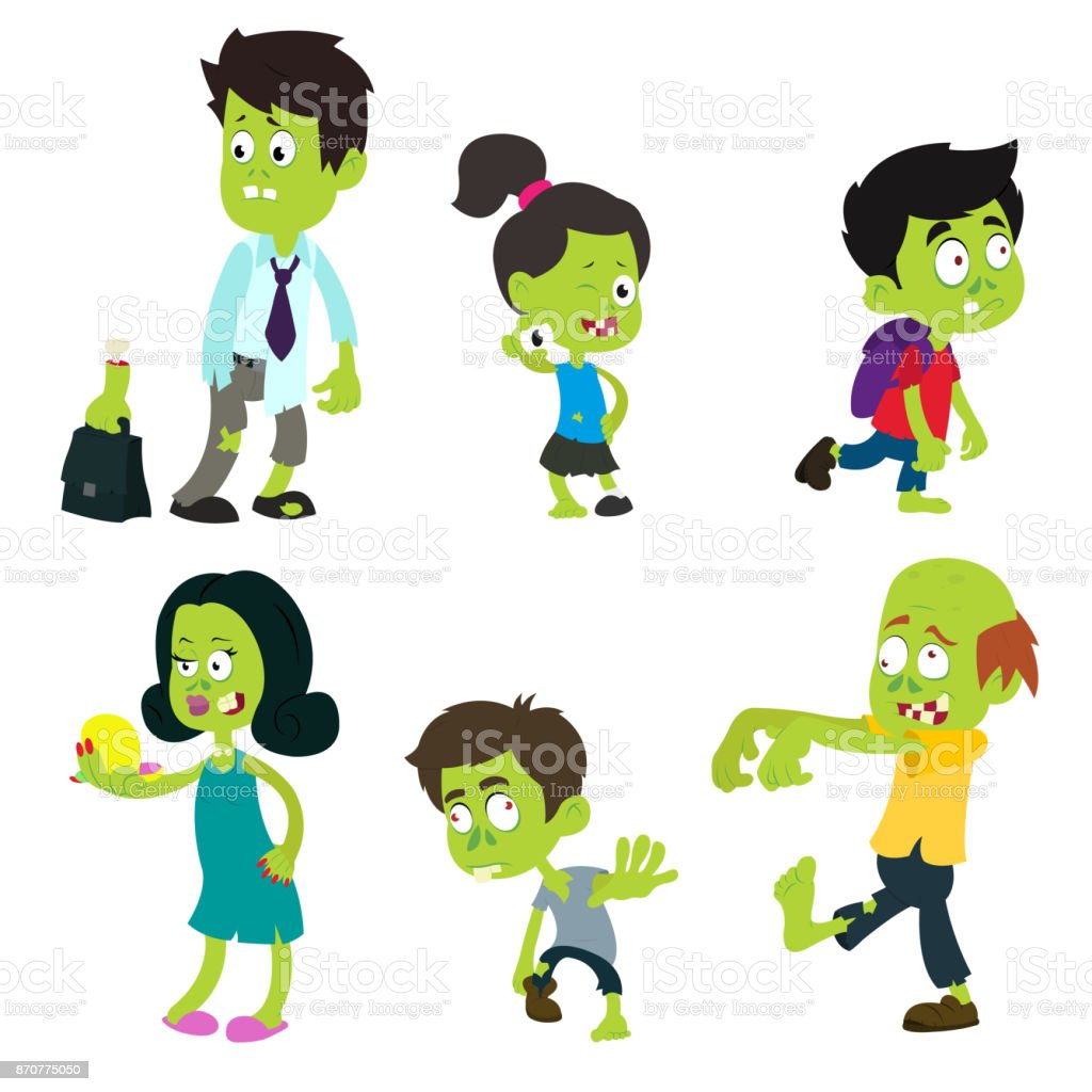 Zombie adults and children.