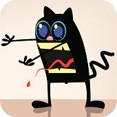 A flesh eating walking dead Black Cat.