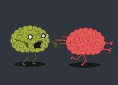 Zombie brain illustration