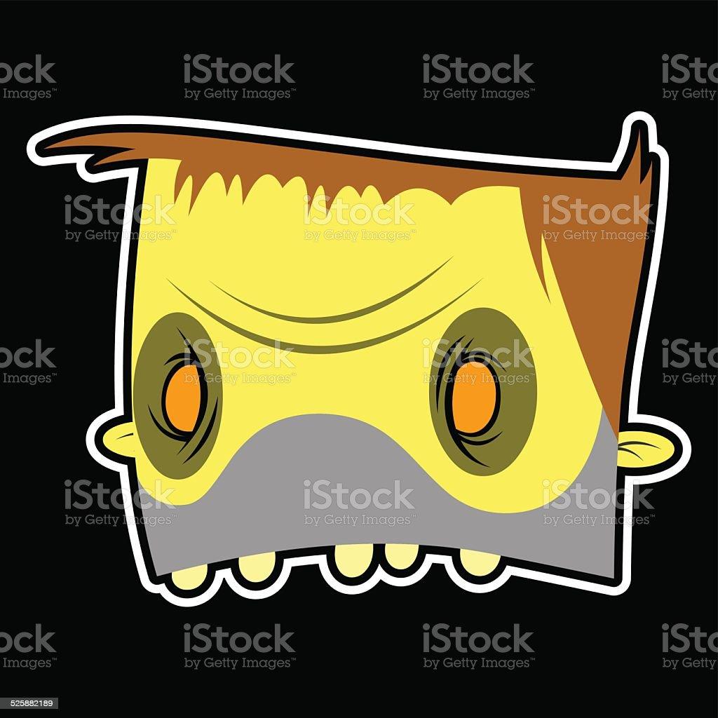 zombie face vector art illustration