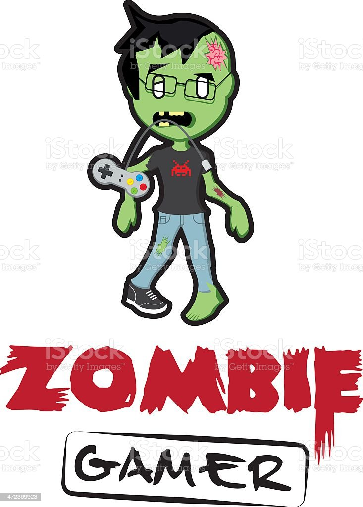 Zombie Gamer royalty-free zombie gamer stock vector art & more images of fun