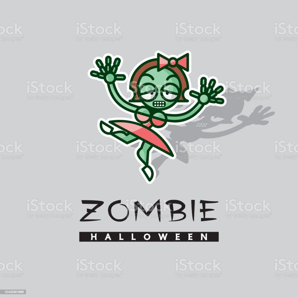 Ballerine De Fille Zombie Personnage De Dessin Animé De