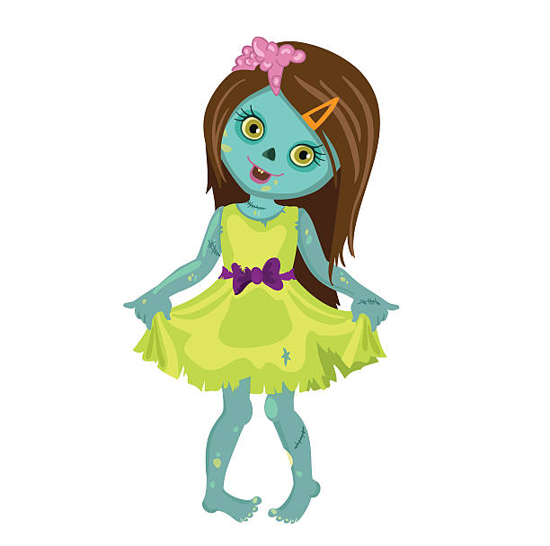 Best Zombie Girl Illustrations, Royalty-Free Vector ...