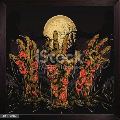 istock Zombie hands 451178071