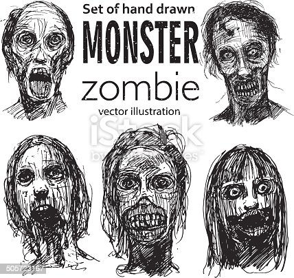 istock Zombie Head 505723167