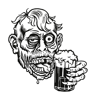 Zombie Holding a Beer