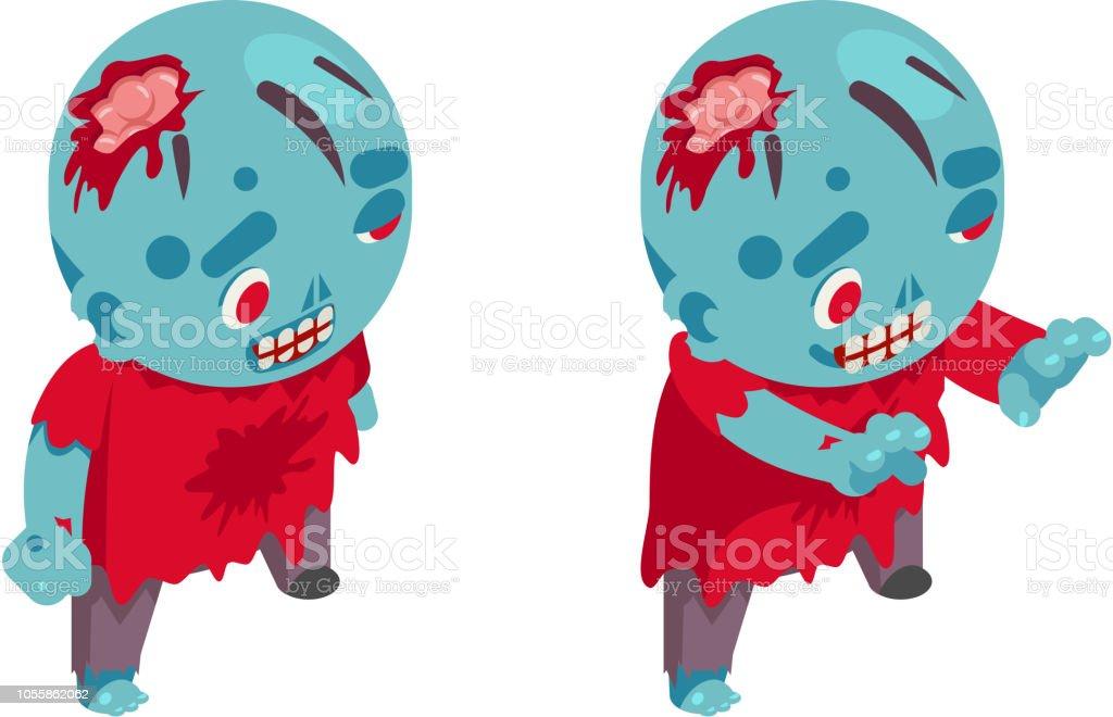 Zombie Isometric Boy Costume Halloween Children Masquerade