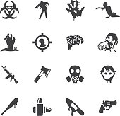 Zombie Land Silhouette icons   EPS10