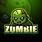 istock Zombie mascot esport logo design 1224250550