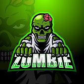 istock Zombie mascot team emblem design 1295201826