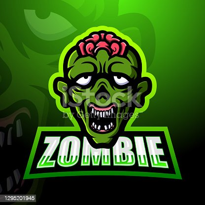 istock Zombie mascot team emblem design 1295201945