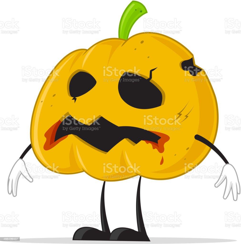 Zombie Pumpkin royalty-free stock vector art
