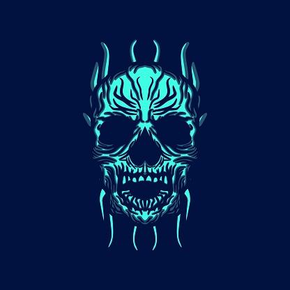 Zombie Skull T-shirt Design