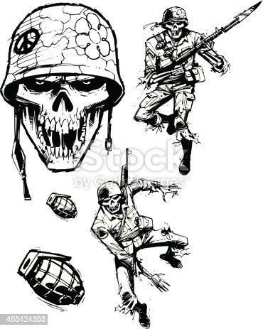 istock Zombie Soldiers - Army Men 455424353