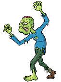 Vector illustration of Cartoon Zombie character