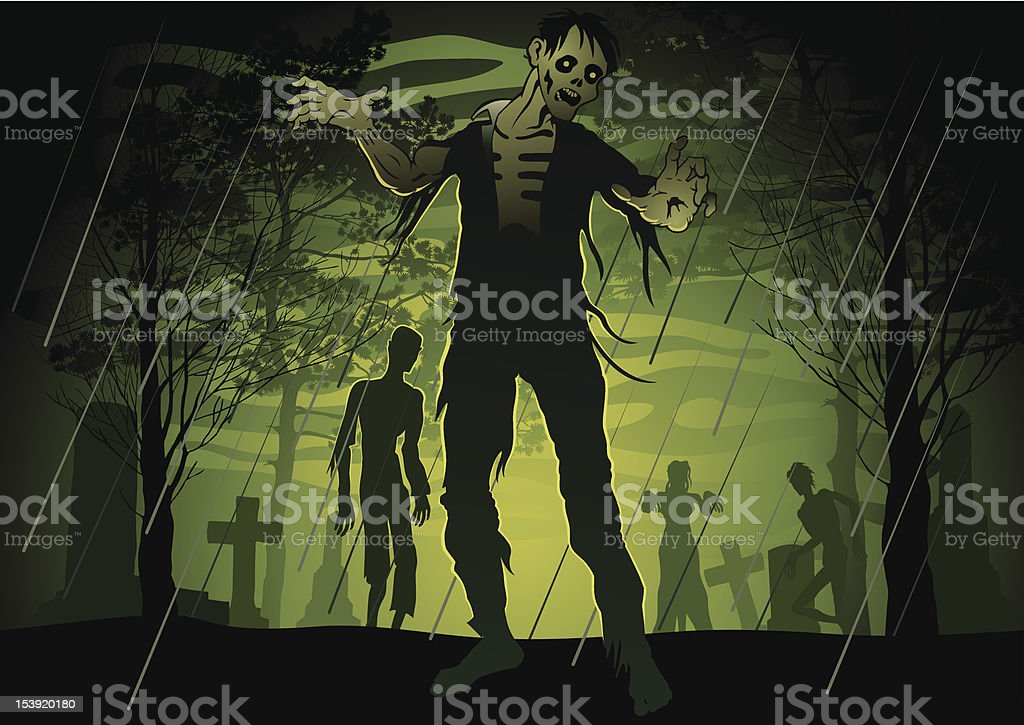 Zombie royalty-free stock vector art