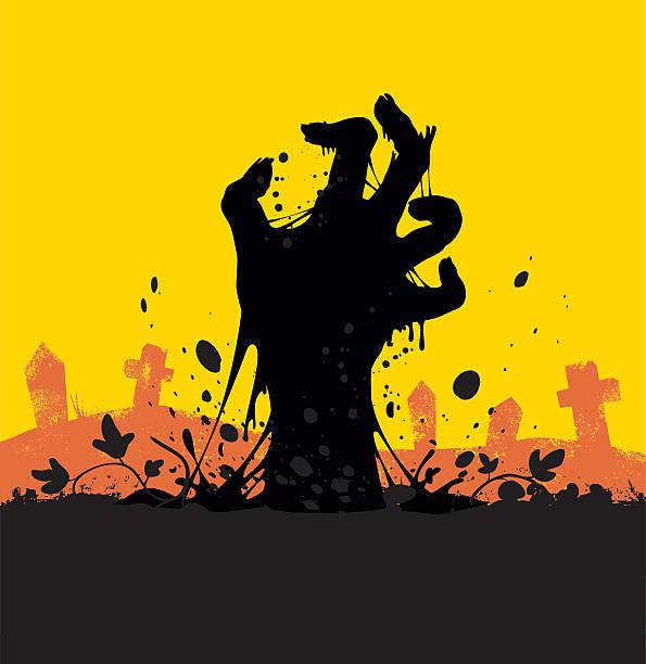 bildbanksillustrationer, clip art samt tecknat material och ikoner med zombie - grav