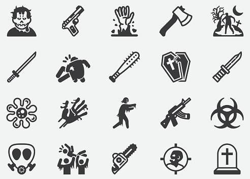 Zombie,Virus ,Halloween,Ghost,Danger,Dead Pixel Perfect Icons